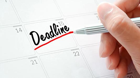 deadline, date butoir